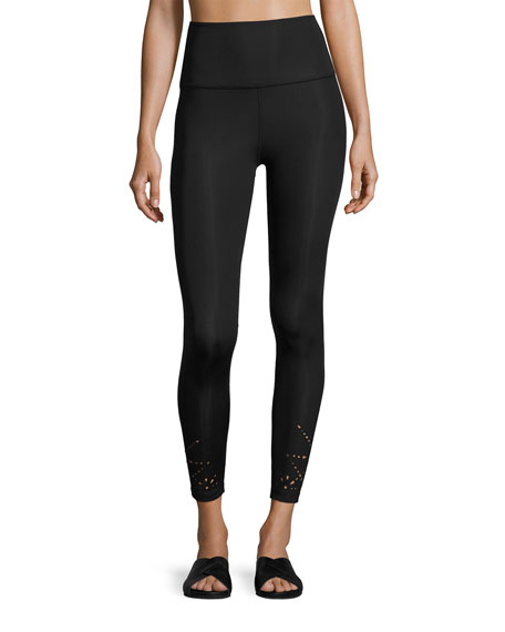 Beyond Yoga Knit Down High-Waist Performance Legging, Jet
