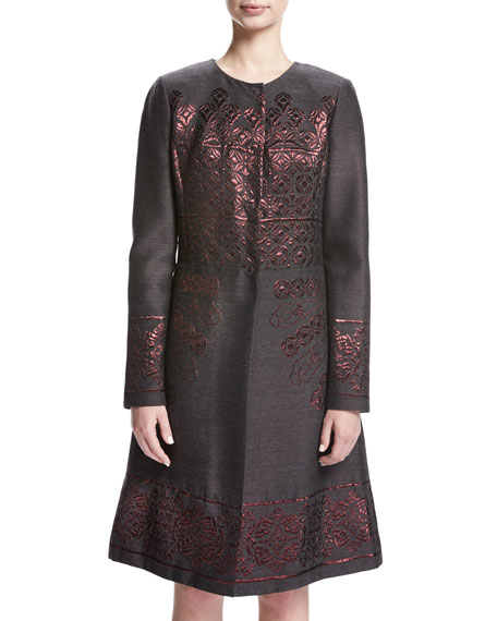 St. John Collection Shavari Jacquard Topper Jacket