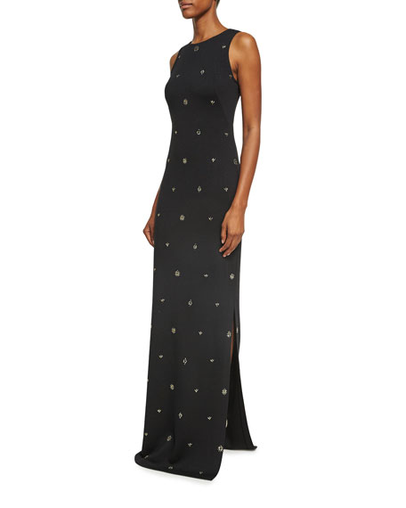 Shimmer Milano Knit Sequined Gown