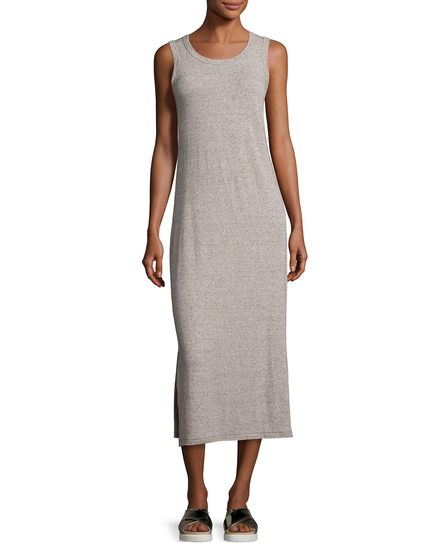 f9cebee6460ce Current/Elliott The Perfect Muscle Tee Maxi Dress, Gray   Neiman Marcus