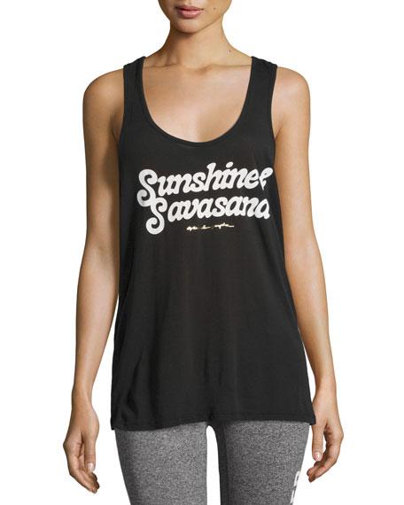 Spiritual Gangster Sunshine & Savasana Aura Tank Top,
