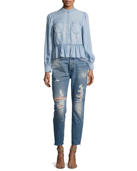 Rigid Re-Release Le Original Skinny Jeans, Blue