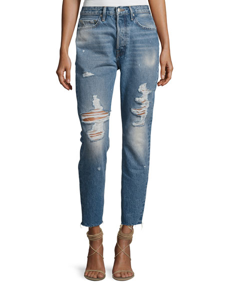 FRAME Rigid Re-Release Le Original Skinny Jeans, Blue