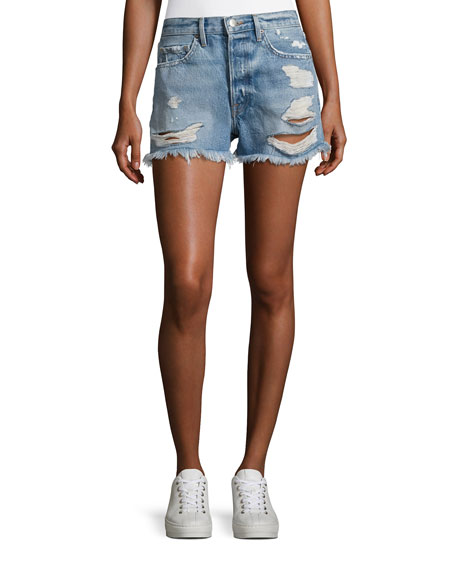 FRAME Le Original Rigid Re-Release Denim Shorts, Blue