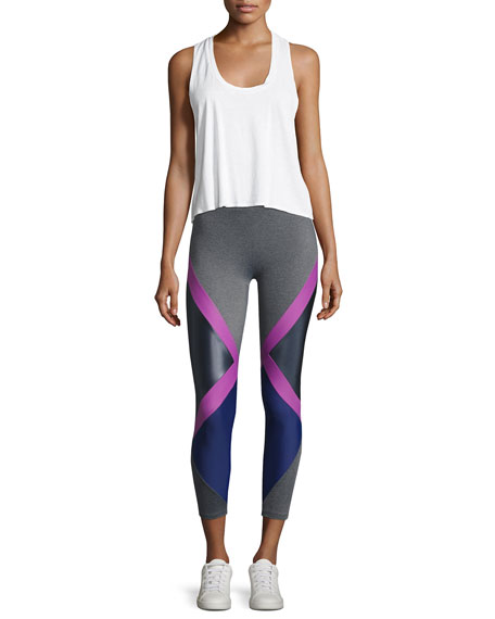 Jackson Diamond Block Leggings, Purple Pattern