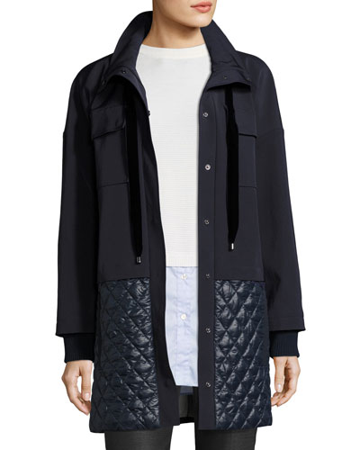 Tech Twill & Quilted Nylon Jacket