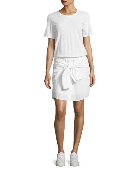 Corey Cotton T-Shirt Dress, White