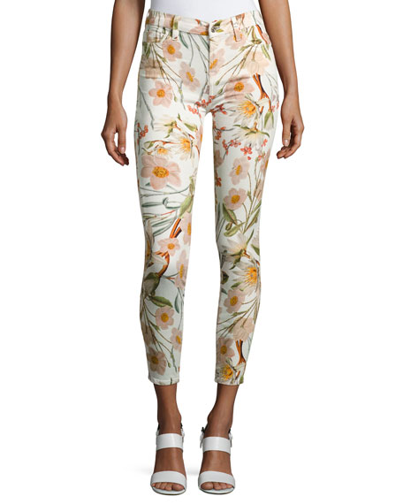 7 For All Mankind The Ankle Skinny Floral-Print