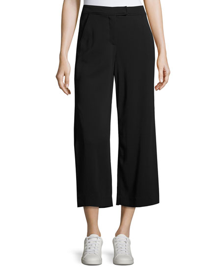 A.L.C. Enzo Gaucho Crepe Pants, Black and Matching