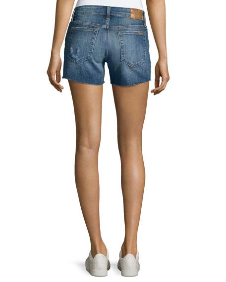 The Ozzie Mid-Rise Cutoff Denim Shorts, Indigo