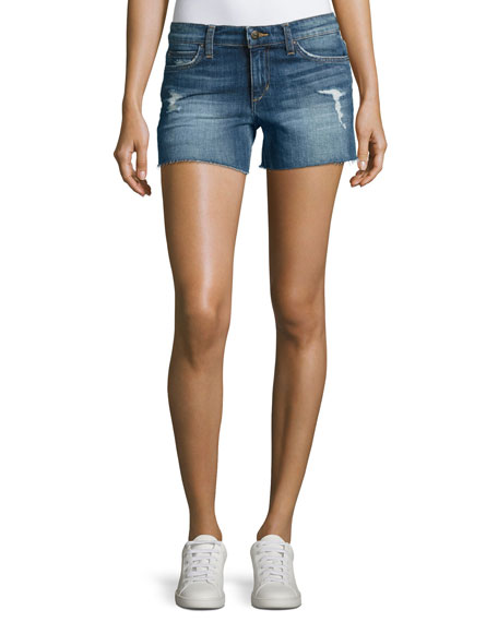 Joe's Jeans The Ozzie Mid-Rise Cutoff Denim Shorts,