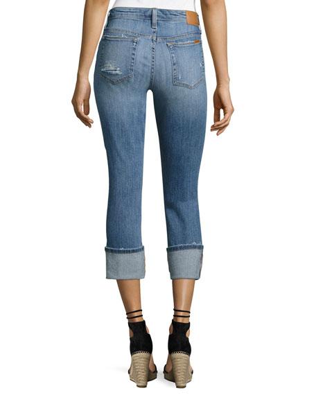 Clean 4 Skinny Crop Denim Pants, Indigo