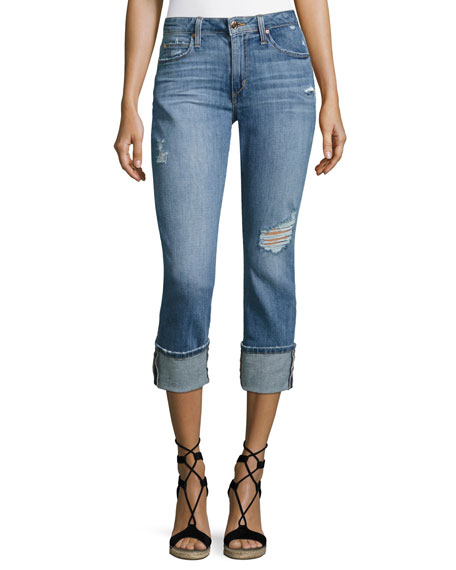 Joe's Jeans Clean 4 Skinny Crop Denim Pants,