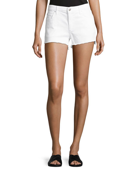 Joe's Jeans The Ozzie Step-Hem Denim Shorts, White