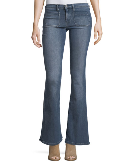 Etienne Marcel Molly Low-Rise Flared Jeans
