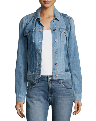 Rowan Pieced Denim Jacket, Indigo