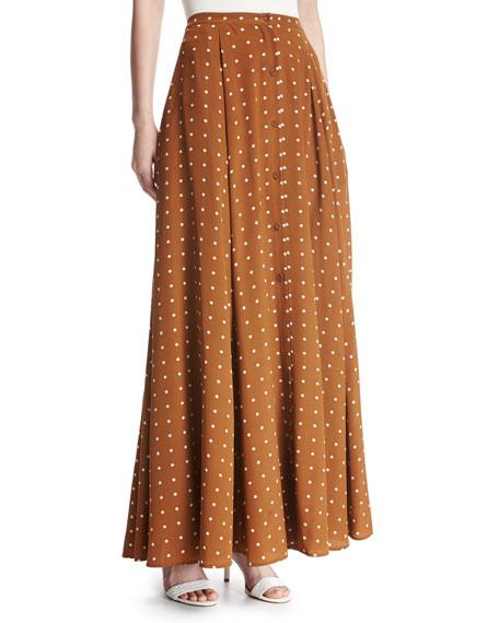Diane von Furstenberg Flare Silk Maxi Skirt, Multi