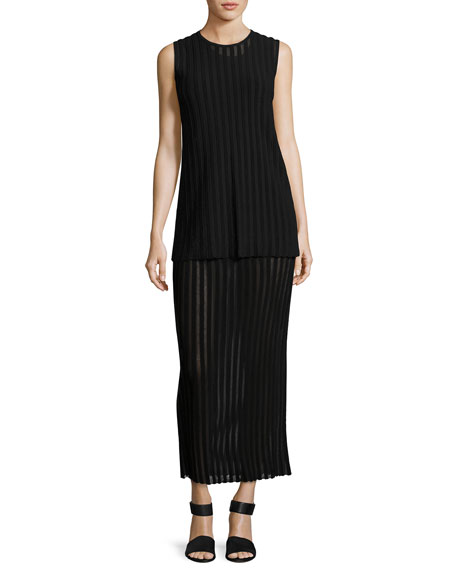 Diane von Furstenberg Two-Tiered Sleeveless Knit Maxi Dress,