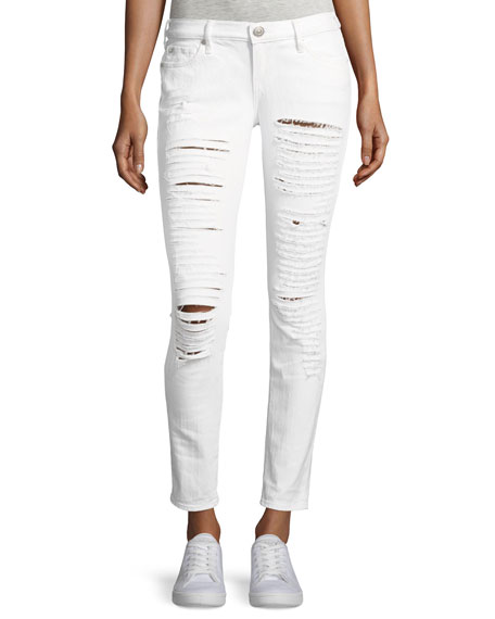 True Religion Casey Low-Rise Super Skinny Distressed Jeans