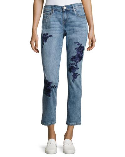 Cameron Slim Boyfriend Jeans, Indigo