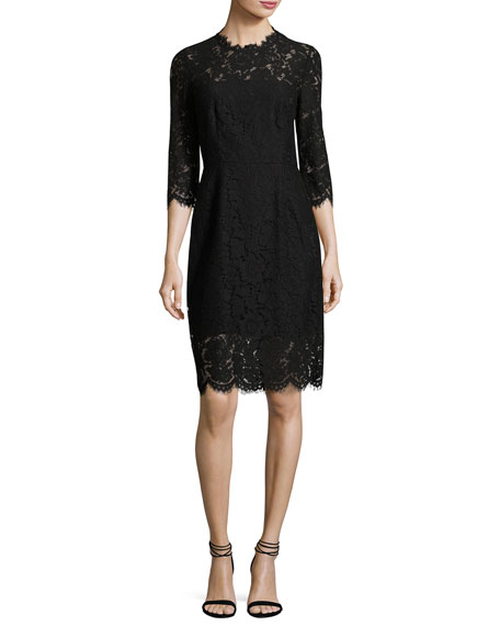 Rachel Zoe Kyle Open-Back Lace Cocktail Midi Dress