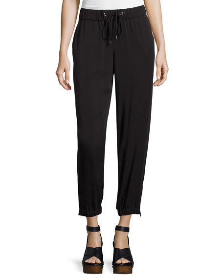 Eileen Fisher Tencel® Twill Drawstring Pants, Plus Size