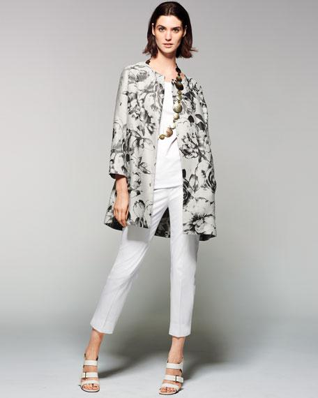 Karen Botanical Splash Floral-Jacquard Jacket