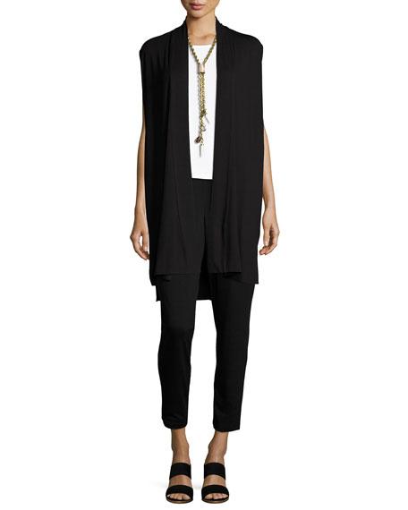 Long Jersey Dress W/ Side Vents