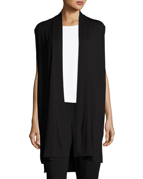 Eileen Fisher Long Jersey Dress W/ Side Vents