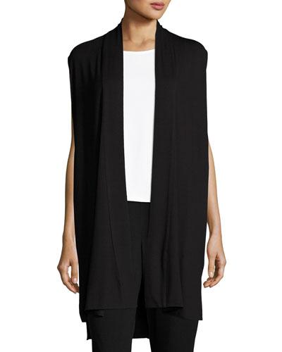 Long Jersey Dress W/ Side Vents, Plus Size
