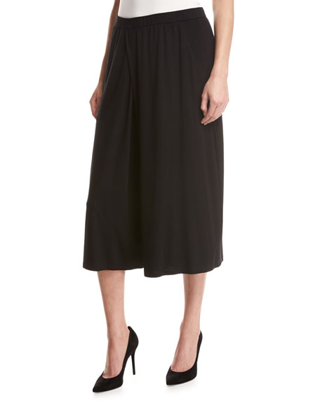 Eileen Fisher Lightweight Jersey Culottes, Black