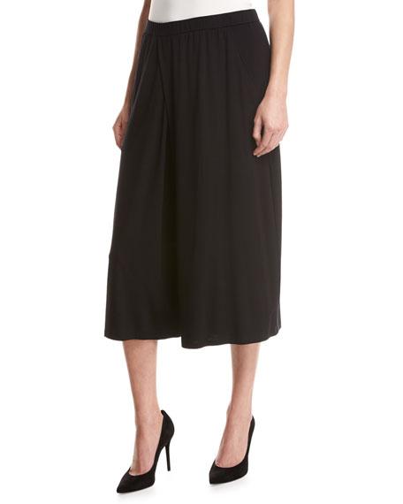 Eileen Fisher Lightweight Jersey Culottes, Black, Petite