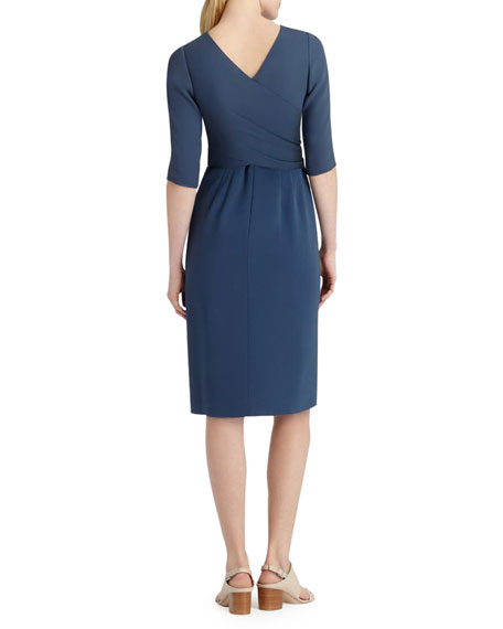 Jolie 3/4-Sleeve Tie-Waist Dress