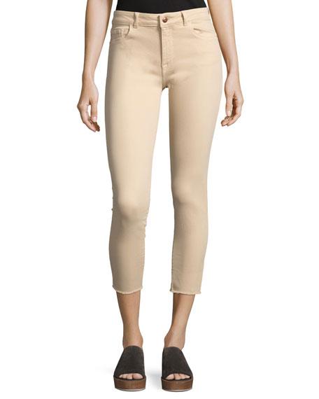 DL1961 Premium Denim Florence Mid-Rise Skinny Crop Jeans,