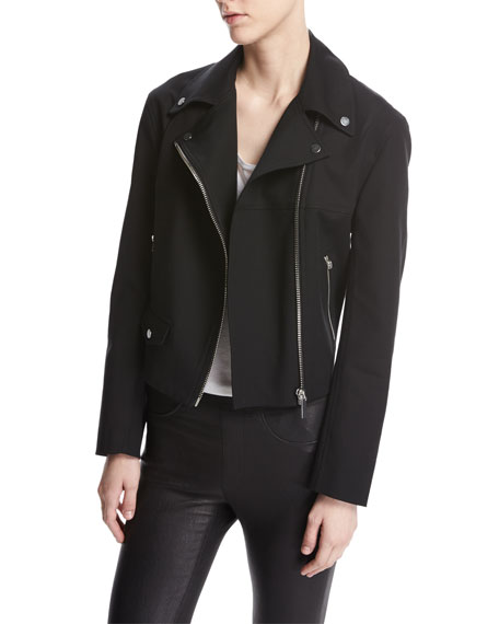 Helmut Lang Moto Biker Cotton Jacket, Black