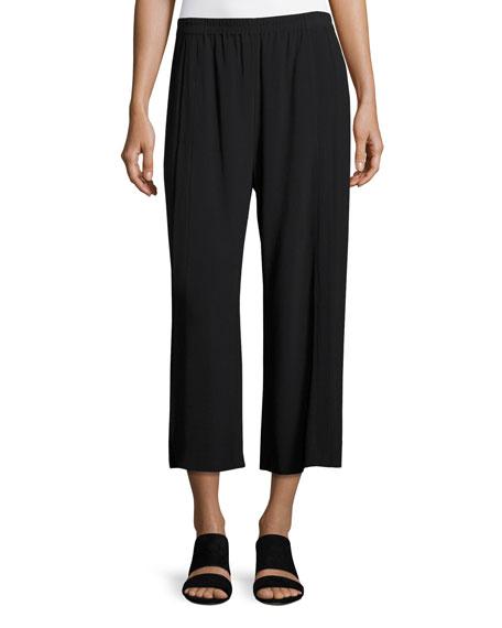 Helmut Lang Mid-Rise Crepe Culotte Pants, Black