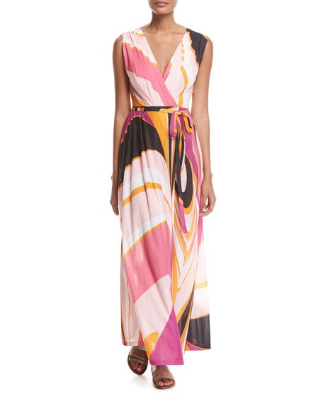 Emilio Pucci Sleeveless Libellula Coverup Maxi Dress
