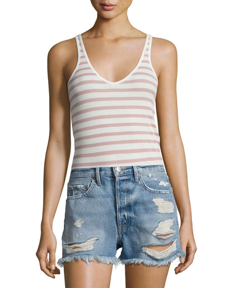 Striped Modal Rib Wrestler Tank