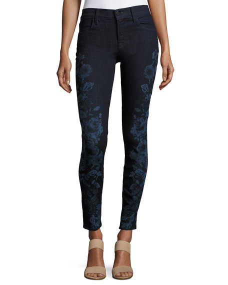 J Brand 620 Mid-Rise Super Skinny Jeans, Blue