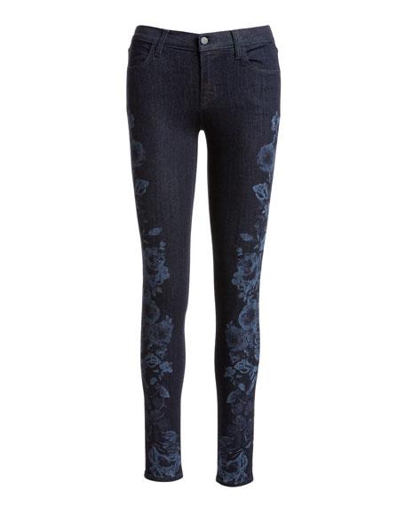 620 Mid-Rise Super Skinny Jeans, Blue Pattern