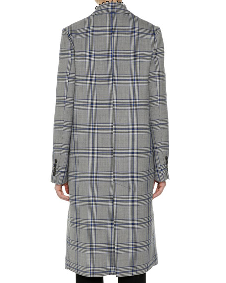 Plaid Ruffled Coat, Multipattern