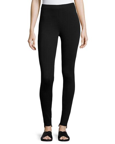 Pull-On Jersey Slim Leggings, Black