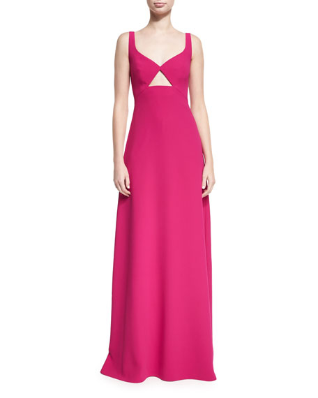 Jill Jill Stuart Sleeveless Cutout Crepe Evening Gown,