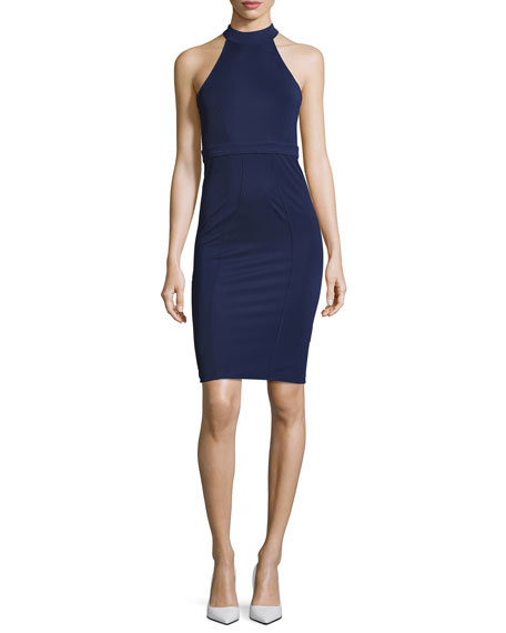 ZAC Zac Posen Alix Halter Sheath Dress