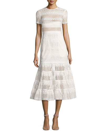 Bea Embroidered Midi Dress, White