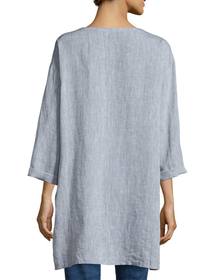 Long Yarn-Dye Tunic, Petite