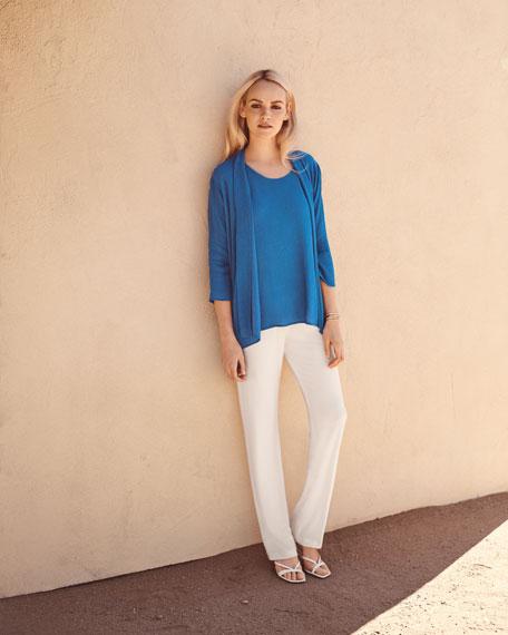 Caroline Rose Plus Size Stretch-Knit Straight-Leg Pants