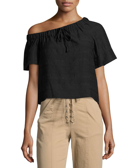 A.L.C. Cheyenne One-Shoulder Top, Black and Matching Items