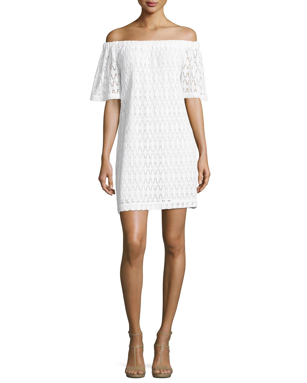 A.L.C. Ario Crocheted Off-the-Shoulder Dress 0e45a8777e533