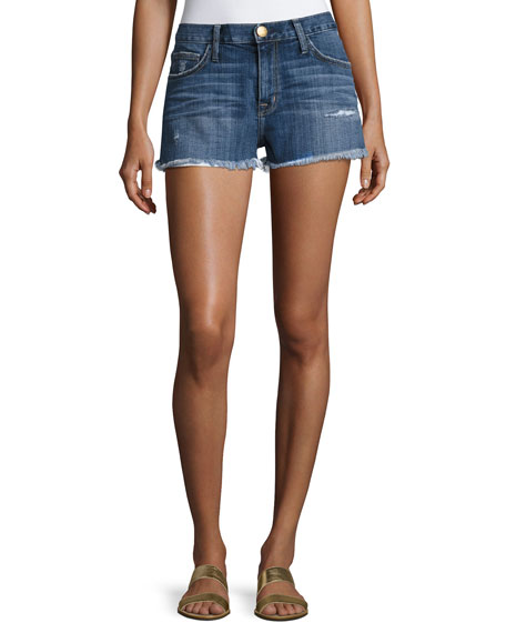 Current/Elliott The Boyfriend Cutoff Shorts W/ Raw-Edge Hem